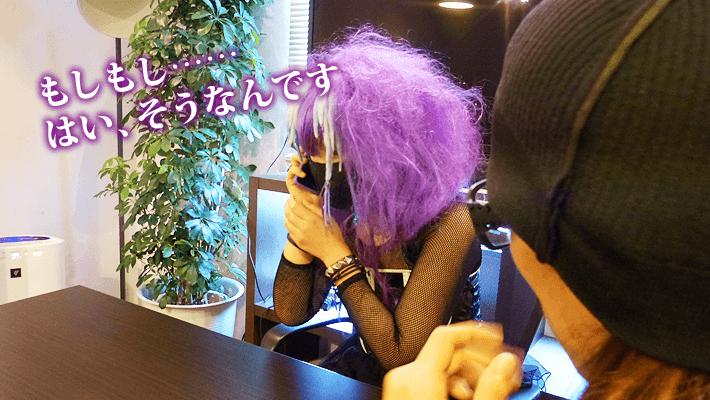 iPhoneカバーの色と髪の毛の色が同化 by ぺとら