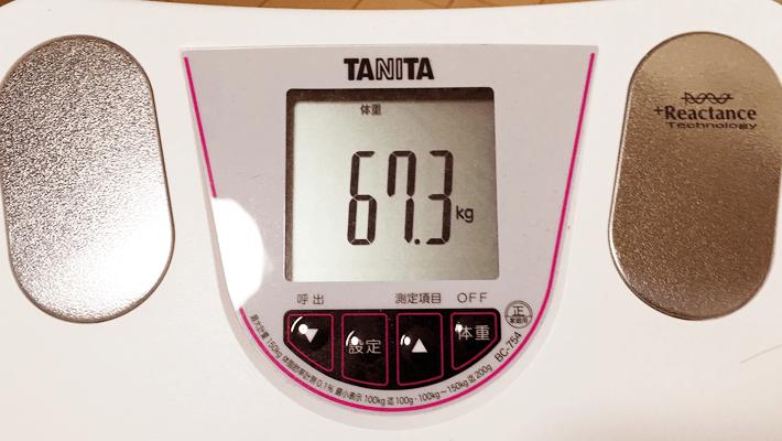 2016年6月9日の体重