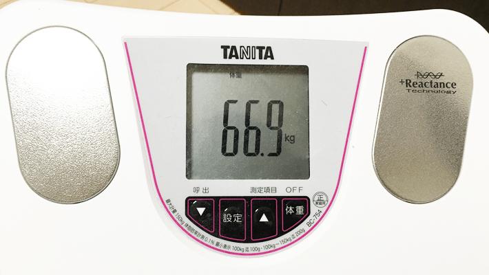 2016年6月10日の体重