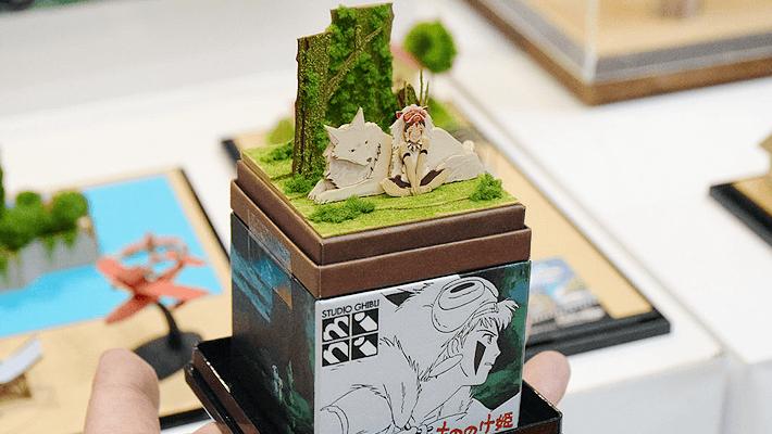 ジブリの世界を手乗りサイズのペーパークラフトで再現できる「スタジオジブリ mini」、もののけ姫の新作が登場