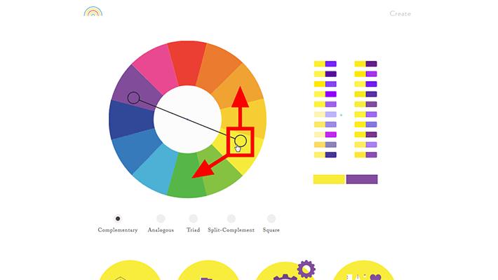 カラーチャートをグルグル動かして好みの配色を探せる「Color Supply」
