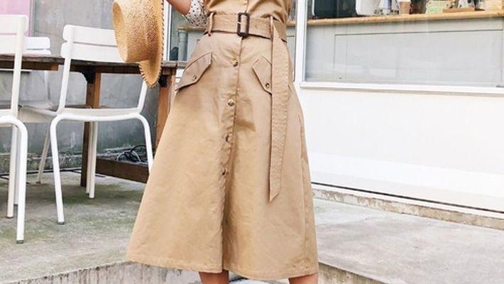 2018年春に着るトレンチスカートの上手な着こなし方! おしゃれさんのコーデ集♪