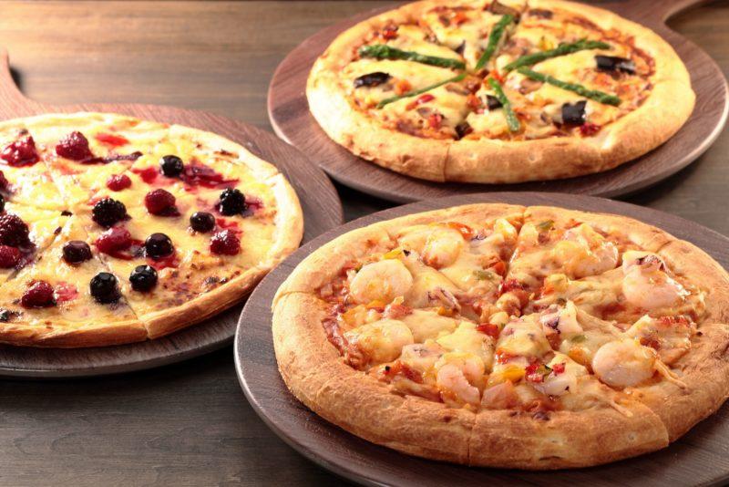 カレーピザ・シーフードピザ・ベリー&カスタードピザ/LEGOLAND