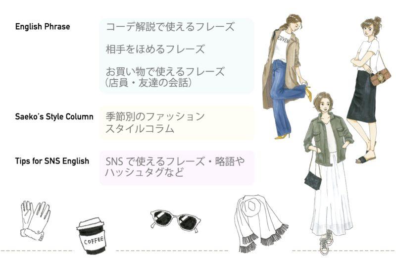 収録内容ページ2/おしゃれ英語図鑑
