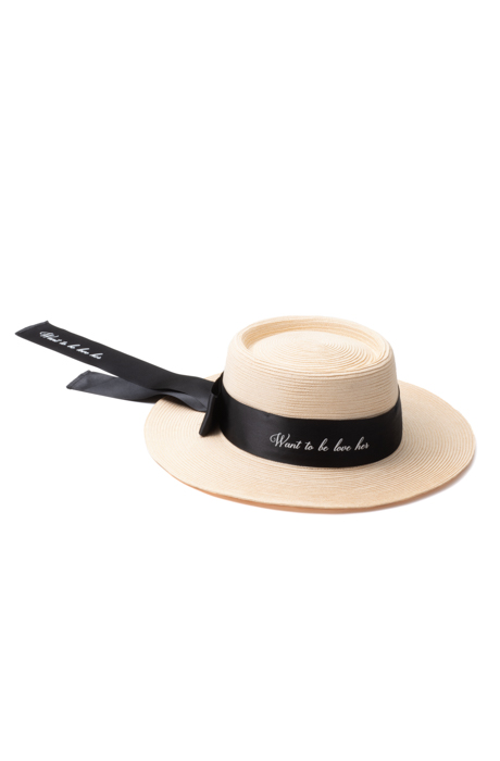 Long Ribbon Straw Hat