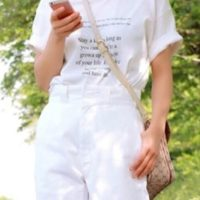 夏に可愛いオールホワイトコーデ♪ お洒落さんに学ぶポイント