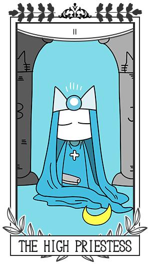 女教皇 / 正位置 Ⅱ THE HIGH PRIESTESS