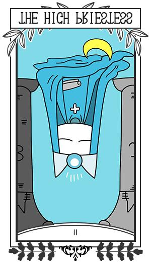 女教皇 / 逆位置 Ⅱ THE HIGH PRIESTESS