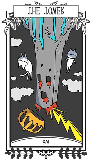 塔 / 逆位置 XVI THE TOWER